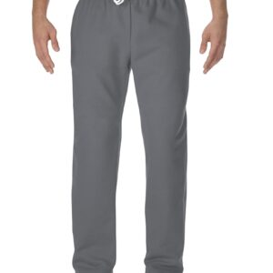 Model wearing Gildan - DryBlend® Open-Bottom Sweatpants with Pockets - 12300