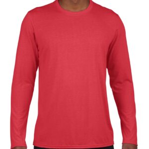 Model wearing Gildan - Ultra Cotton® Long Sleeve T-Shirt - 2400