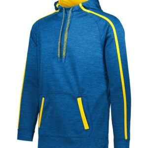 Augusta Sportswear - Stoked Tonal Heather Hoodie - 5554 Royal and Gold