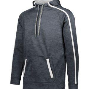 Augusta Sportswear - Stoked Tonal Heather Hoodie - 5554 Black and White