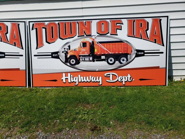 Twon of Ira Highway Department Polymetal sign